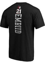 Joel Embiid Philadelphia 76ers Black Playmaker Short Sleeve Player T Shirt