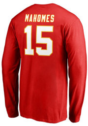Patrick Mahomes Kansas City Chiefs Red Authentic Stack Long Sleeve Player T Shirt