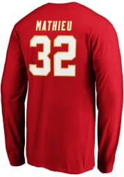 Tyrann Mathieu Kansas City Chiefs Red Authentic Stack Long Sleeve Player T Shirt