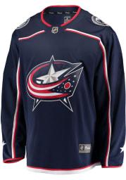 Columbus Blue Jackets Mens Navy Blue Breakaway Hockey Jersey