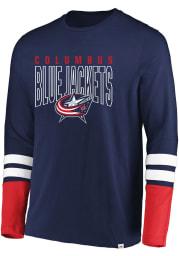 Columbus Blue Jackets Navy Blue 5 Minute Major Long Sleeve Fashion T Shirt