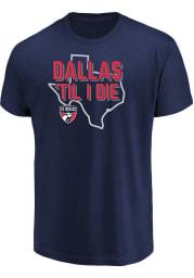FC Dallas Navy Blue Winning Capacity Short Sleeve T Shirt