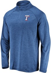 Texas Rangers Mens Blue Iconic Striated Long Sleeve 1/4 Zip Pullover