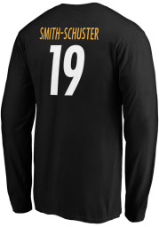 JuJu Smith-Schuster Pittsburgh Steelers Black Authentic Stack Long Sleeve Player T Shirt