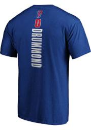 Andre Drummond Detroit Pistons Blue Playmaker Short Sleeve Player T Shirt