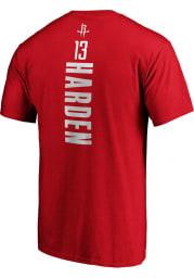 James Harden Houston Rockets Red Playmaker Short Sleeve Player T Shirt