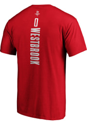 Russell Westbrook Houston Rockets Red Playmaker Short Sleeve Player T Shirt