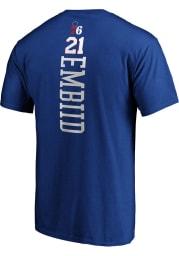 Joel Embiid Philadelphia 76ers Blue Playmaker Short Sleeve Player T Shirt