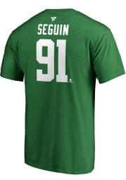 Tyler Seguin Dallas Stars Green Authentic Stack Short Sleeve Player T Shirt