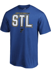 St Louis Blues Blue City Abbreviation Short Sleeve T Shirt