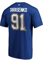 Vladimir Tarasenko St Louis Blues Blue Authentic Stack Short Sleeve Player T Shirt