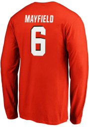 Baker Mayfield Cleveland Browns Orange Authentic Stack Long Sleeve Player T Shirt