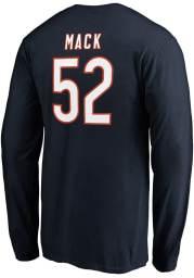 Khalil Mack Chicago Bears Navy Blue Authentic Stack Long Sleeve Player T Shirt