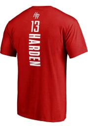 James Harden Houston Rockets Red Backer Short Sleeve Player T Shirt