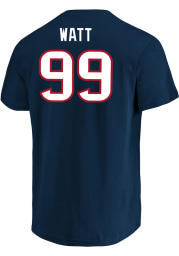 JJ Watt Houston Texans Navy Blue Eligible Receiver Short Sleeve Player T Shirt