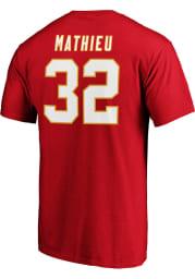 Tyrann Mathieu Kansas City Chiefs Red Authentic Stack Short Sleeve Player T Shirt