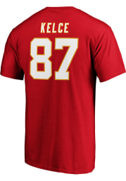 Travis Kelce Kansas City Chiefs Red Authentic Stack Short Sleeve Player T Shirt