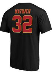 Tyrann Mathieu Kansas City Chiefs Black Authentic Stack Short Sleeve Player T Shirt