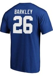 Saquon Barkley New York Giants Blue Authentic Stack Short Sleeve Player T Shirt