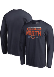 Chicago Bears Navy Blue 2018 Division Champions Fair Catch Long Sleeve T Shirt