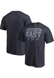 Dallas Cowboys Navy Blue 2018 Division Champions Fair Catch Short Sleeve T Shirt