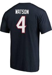 Deshaun Watson Houston Texans Navy Blue Authentic Stack Short Sleeve Player T Shirt