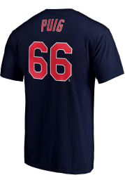 Yasiel Puig Cleveland Indians Navy Blue Name Number Short Sleeve Player T Shirt