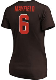 Baker Mayfield Cleveland Browns Womens Authentic Stack Player T-Shirt
