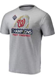Washington Nationals Grey Locker Room Short Sleeve T Shirt