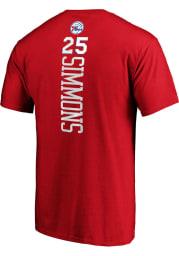 Ben Simmons Philadelphia 76ers Red Backer Short Sleeve Player T Shirt
