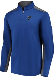 St Louis Blues Mens Blue Poly Fleece Long Sleeve 1/4 Zip Pullover