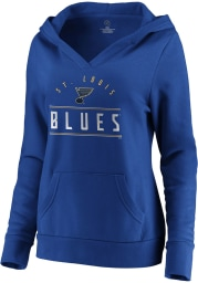 St Louis Blues Womens Blue League Leader Hooded Sweatshirt