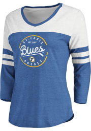 St Louis Blues Womens Blue Home and Away LS Tee