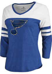 St Louis Blues Womens Blue Primary Logo LS Tee
