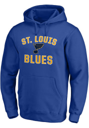 St Louis Blues Mens Blue Varsity Arch Long Sleeve Hoodie
