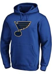 St Louis Blues Mens Blue Team Logo Long Sleeve Hoodie