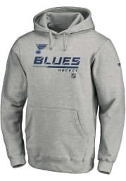 St Louis Blues Mens Grey POH Primary Long Sleeve Hoodie