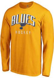 St Louis Blues Gold Iconic Cotton Assist Long Sleeve T Shirt