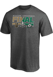Dallas Stars Charcoal 2020 NHL Conference Final Participant Contender Short Sleeve T Shirt