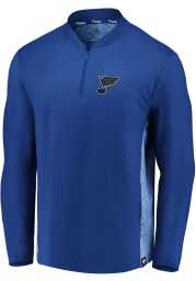 St Louis Blues Mens Blue Iconic Clutch Long Sleeve 1/4 Zip Pullover