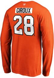 Claude Giroux Philadelphia Flyers Orange Authentic Stack Long Sleeve Player T Shirt