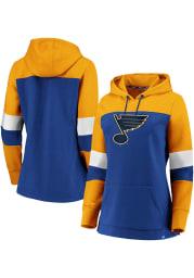 St Louis Blues Womens Blue Iconic Hooded Sweatshirt