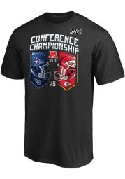 Kansas City Chiefs Black Conference Match-Up Short Sleeve T Shirt