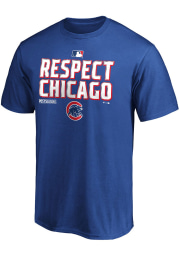 Chicago Cubs Blue Postseason Locker Room Short Sleeve T Shirt