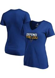 St Louis Blues Womens Blue Defend The Lou Short Sleeve T-Shirt
