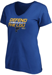 St Louis Blues Womens Blue 2020 Playoffs Short Sleeve T-Shirt