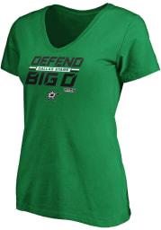 Dallas Stars Womens Kelly Green 2020 Playoffs Short Sleeve T-Shirt