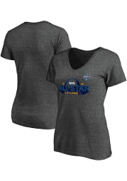 St Louis Blues Womens Charcoal NHL All Star Game 2020 Event St. Louis Short Sleeve T-Shirt