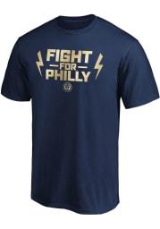 Philadelphia Union Navy Blue Team Slogan Postseason Participant Short Sleeve T Shirt