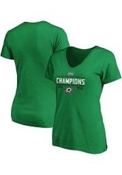 Dallas Stars Womens Kelly Green 2020 NHL Conference Champs Wreak Short Sleeve T-Shirt